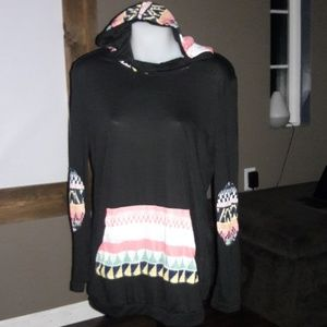 Women's sz Small boutique thin hoodie NEW